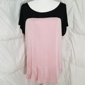 Light pink long light weight top